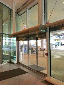 air curtain in a hospital entrance