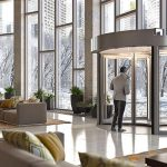 revolving door air curtains
