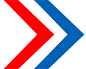 chevron red blue